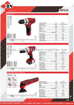 YATO Cordless Drill / Cordless Multi-Purpose Oscillating Tool