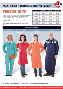 15.15.2 CPA Flame Resistant Cotton Workwear