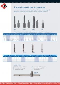 Torque Screwdriver Accessories