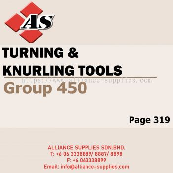 Turning & Knurling Tools (Group 450)