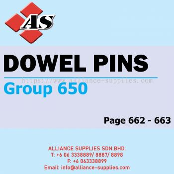 Dowel Pins (Group 650)