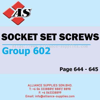 Socket Set Screws (Group 602)