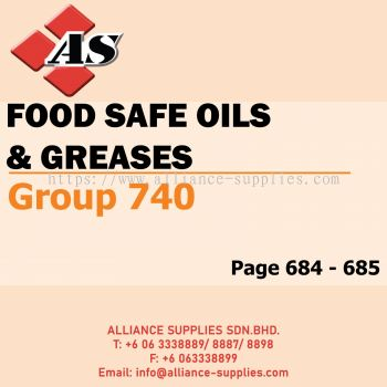 Food Safe Oils & Greasers (Group 740)