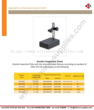 Granite Comparator Stand- 150mm, 200mm, 300mm