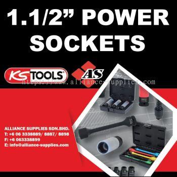 "KS TOOLS 1.1/2"" Power Sockets"