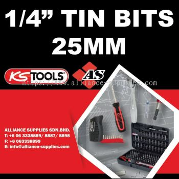 "KS TOOLS 1/4"" Tin Bits 25mm"