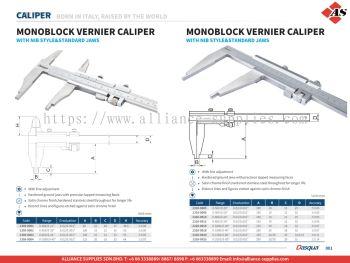 DASQUA Monoblock Vernier Caliper