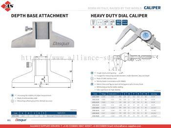 DASQUA Depth Base Attachment / Heavy Duty Dial Caliper