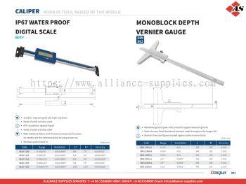 DASQUA IP67 Water Proof Digital Scale / Monoblock Depth Vernier Gauge
