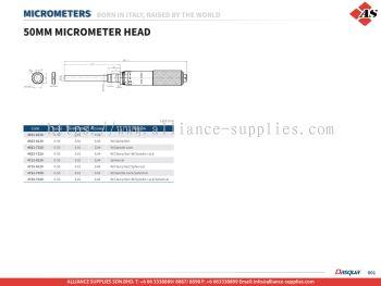 DASQUA 50mm Micrometer Head