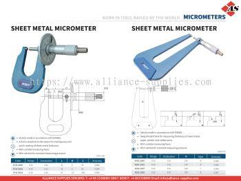 DASQUA Sheet Metal Micrometer