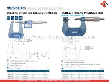 DASQUA Digital Sheet Metal Micrometer / Screw Thread Micrometer