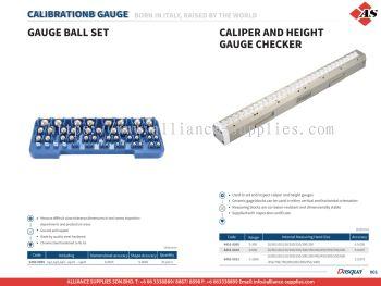 DASQUA Gauge Ball Set / Caliper and Height Gauge Checker