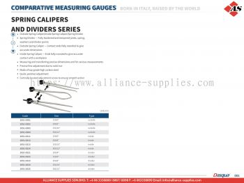 DASQUA Spring Calipers and Dividers Series