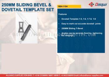 250mm Sliding Bevel & Dovetail Template Set