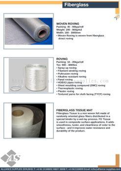 Woven Roving / Roving / Fiberglass Tissue Mat