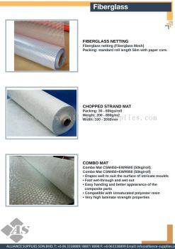Fiberglass Netting / Chopped Strand Mat / Combo Mat