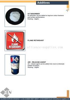 UV Absorber / Flame Retardant / Air - Release Agent