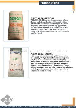 Fumed Silica - Reolosil / Fumed Silica - Konasil