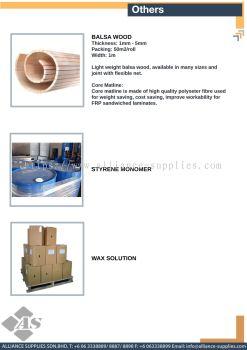 Balsa Wood / Styrene Monomer  / Wax Solution