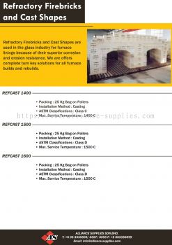 Refractory Firebricks and Cast Shapes