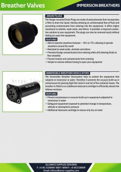 Immersion Breathers - Drain Plugs / Immersible Breather Desiccators