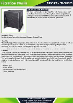 Filtration Pellets - VOC Filters and Cassettes