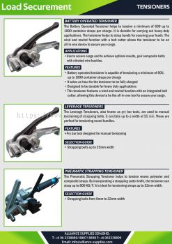 Tensioner - Battery Operated Tensioner / Leverage Tensioners / Pneumatic Strapping Tensioner