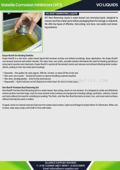 VCI Liquids - VCI Rust Removing Liquid