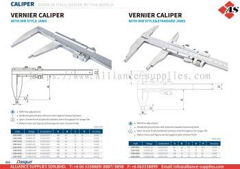 DASQUA Vernier Caliper with NIB Style Jaws / Vernier Caliper with NIB Style & Standard Jaws