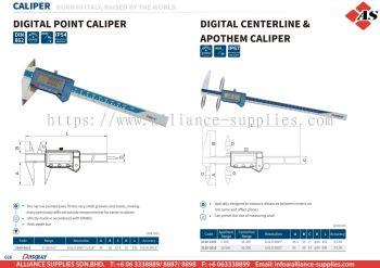DASQUA Digital Point Caliper / Digital Centerline & Apothem Caliper