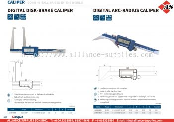 DASQUA Digital Disk-Brake Caliper / Digital Arc-Radius Caliper