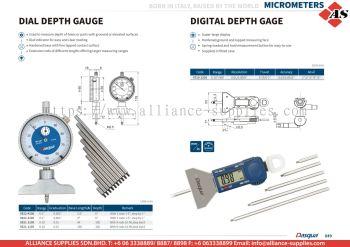 DASQUA Dial Depth Gauge / Digital Depth Gauge