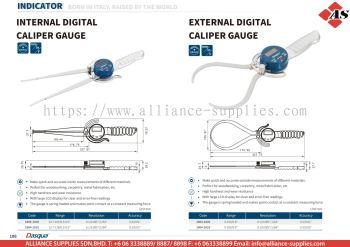 DASQUA Internal Digital Caliper Gauge / External Digital Caliper Gauge