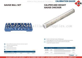 DASQUA Gauge Ball Set / Caliper & Height Gauge Checker