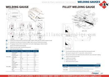 DASQUA Welding Gauge / Fillet Welding Gauge