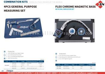 DASQUA 4 Pcs General Purpose Measuring Set / Flex Chrome Magnetic Base