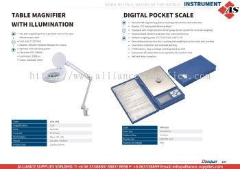 DASQUA Table Magnifier with Illumination / Digital Pocket Scale