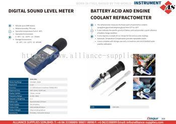 DASQUA Digital Sound Level Meter / Battery Acid and Engine Coolant Refractometer