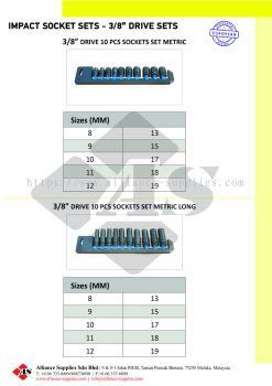"""OZAT Impact Socket Sets - 3/8"""" Square drive, Metrics"""