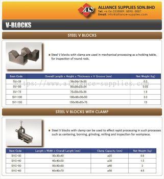 Riken Steel V-Block/ Steel V-Block With Clamp/ Cast Iron V-Block/ Magnet V-Block