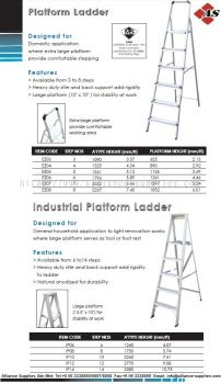 Platform Ladder & Industrial Platform Ladder