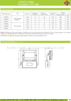17.04.5 ZY8810, ZY8820 Emergency LED Light
