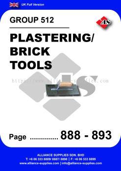 512 - Plastering/ Brick Tools
