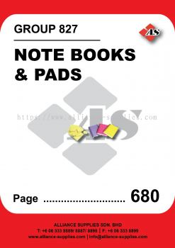 827-Note Books and Pads