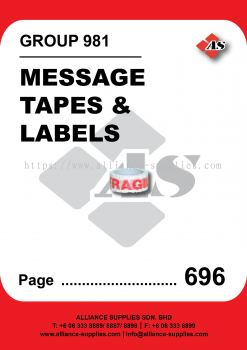 981-Message Tapes and Labels