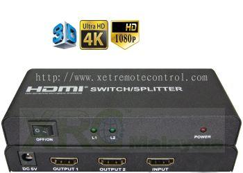2 WAY HDMI SPLITTER BOOSTER