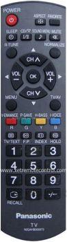 N2QAKB000073 PANASONIC LCD/LED TV REMOTE CONTROL N2QAHB000073 (original)