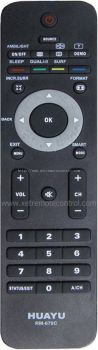 RM-670C PHILIPS LCD/LED TV REMOTE CONTROL