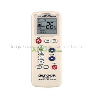 K-100ES CHUNGHOP UNIVERSAL MULTI AIR CONDITIONING REMOTE CONTROL